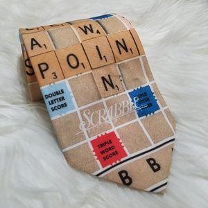 Scrabble Men's Neck Tie New